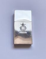Olasz ezüst cigarettatartó a 183-as ejtőernyős regiment címerével.