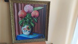 Götzl nagy csendélet festmény 75x98 cm kerettel