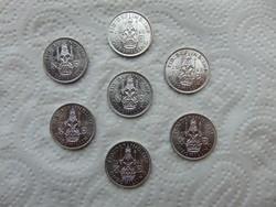 Anglia 7 darab ezüst 1 shilling LOT !