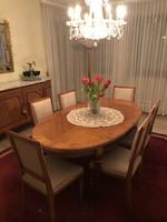 XVI.Lajos étkezőasztal 6 székkel
