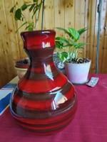 Iparművészeti Vállalat  hibátlan jelzett mázas kerámia váza