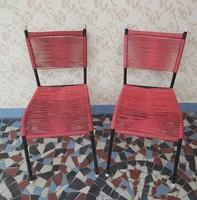 Retro drótos fonott székek szék nosztalgia darabok , Egyben eladók ,Midcentury