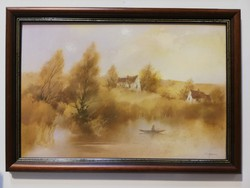 Szekeres emil waterfront landscape with boatman weekly action4