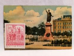 Petőfi szobor régi képeslap
