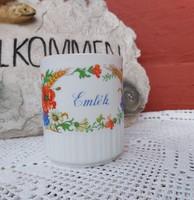 Ritkább Gyönyörű Zsolnay szoknyás Emlék pipacsos bögre, nosztalgia Gyűjtői darab