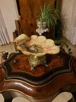 Antik gyönyörű majolika asztali kínáló!