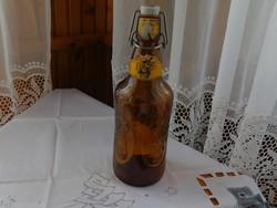 Díszes francia sörös üveg