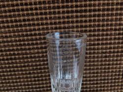 Rövid italok kiméréséhez hitelesített üveg pohárka, 3 cl, hibátlan, szép, tiszta