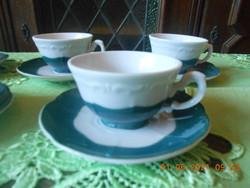 Zsolnay zöld Pompadour kávés csésze