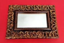 Gyönyörű antikolt keretben tükör