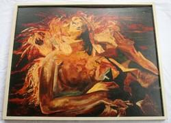 Robert Ottiger Atomhalál című festménye (igen nagy méretű)