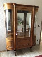 XVI.Lajos stilusú vitrines szekrény 176x132x45cm