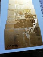 Plasztik euró 7db+egy 1000dolláros