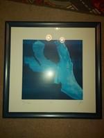 Annette Riemann, szignós , számozott nyomat, gyönyörű, hibátlan keretezésben, 50x50/56×56 cm!