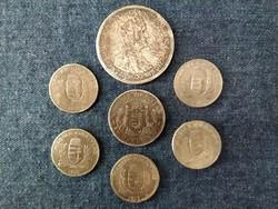 7 db korabeli hamis Pengő érme (id49308)