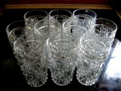 11db-os retro üdítős, koktélos pohár készlet