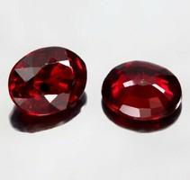 1 ct rubin drágakő pár  4mmx3 mm Songea