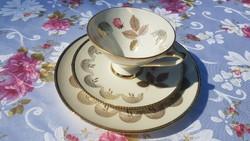 RÓZSASZÁL Winterling Röslau Bavaria porcelán reggeliző szett 3 részes (csésze, csészealj, kistányér)