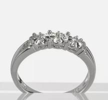 Gyèmánt  drágaköves  sterling ezüst füli 925/ - új