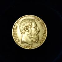 Aranyérme 20 Frank Belgium II. Leopold