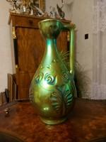 Zsolnay eozin szép nagyméretű füles váza!