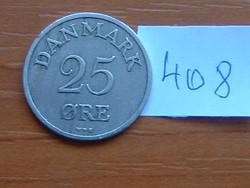 DÁNIA 25 ŐRE 1950 N-S 75% réz, 25% nikkel King Frederick IX #408
