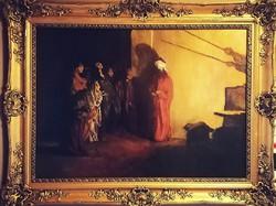 Domenico Morelli (1826-1901) Krisztus gúnyolása olajfestmény! Nagyházi aukción szerepelt / BÁV szám