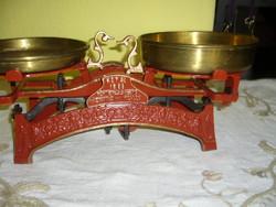 10 kg-s ROYAL mérleg,kitűnő, eredeti rézserpenyőkkel, Fuchs Gábor mérleggyárából