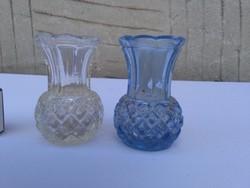 Kék és fehér ibolya váza - két darab együtt