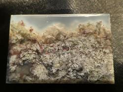 Természetes, csiszolt Mohaachát kalcedon ásvány gyűjteménybe vagy dísztárgynak. 12 gramm