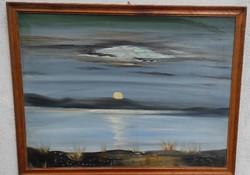 Balaton làtkép Festmény tàjkép 60x 80 cm-es Festmény naplemente,