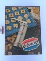 UNIVERSAL tésztakészítő gép dobozában, papírjaival - 1988 - újszerű