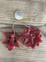 Két antik viasz karácsonyfadísz