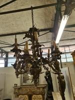 Rokokó-barokk réz csillár