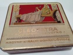 Antik Cleopatra szivar pléh doboz