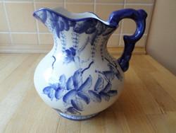 Porcelán kancsó vizeskancsó kiöntő virágos-madaras dekorral 1,2 liter