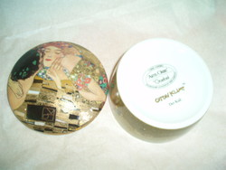 Goebel porcelán dobozka Gustav Klimt dekorral