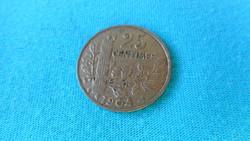 Francia 25 centimes pénzérme