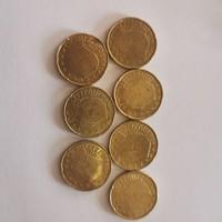 Luxemburg euró 20 centek 7db