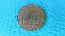 Francia 25 centimes pénzérme (02)