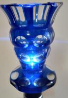 Kék Bieder kristály pohár