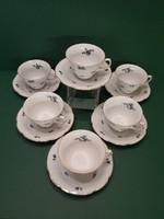 Antik Rosenthal 6 db teáscsésze aljával