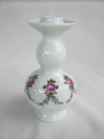 Wallendorf porcelán rózsás gyertyatartó