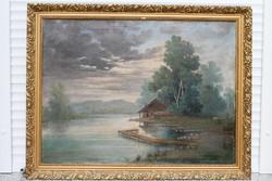 Mesterházy Dénes Vízparti tájkép