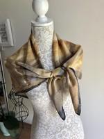 Kézzel festett silk, selyem sál, kendô 90*90cm