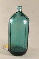 Antik kék sokszögletű szódásüveg 732