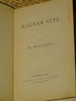 DR.RÉTHY LÁSZLÓ: MAGYAR STYL 1885