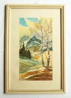 J. Lemke jelzésű festmény