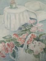 Art deco Vaszary Kunffy Lajos virágcsendélet