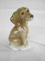 Retro ... tacskó kutya porcelán lámpa